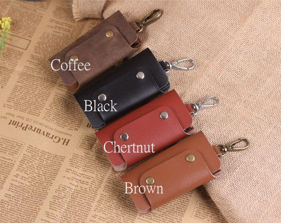 Hand Crafted Leather Key Holder  Leather Key Case  Vintage