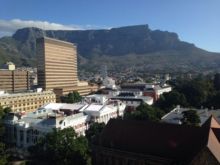 """""""Amazing view of Cape Town from The Taj this morning after a big night in the city with good peops #lovinCT """" - Lee Hannon @LeeITV"""