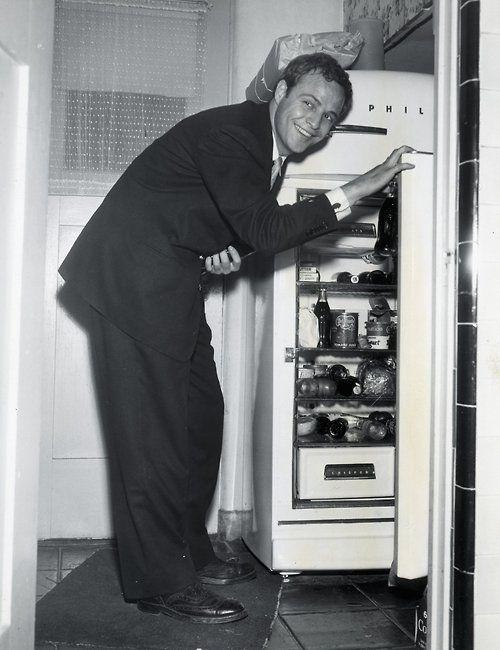 Marlon Brando raids the icebox, 1950s