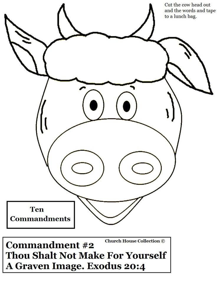 10 Commandments KJV Bible craft | Ten Commandments Coloring Pages