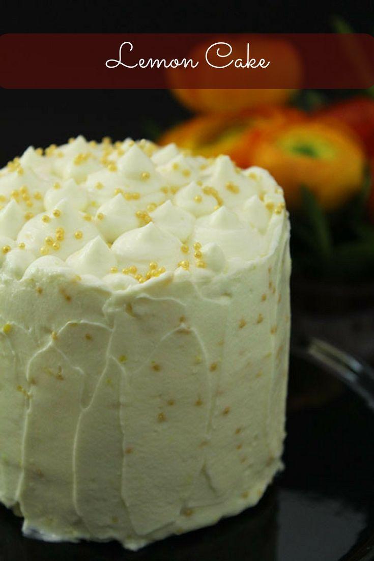 Rezept für ein kleines Zitronentörtchen. Perfekt geeignet als Mini Geburtstagstorte.