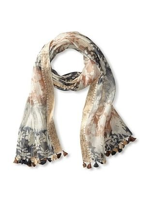 59% OFF Micky London Women's Ombre Saree Scarf, Natural/Multi