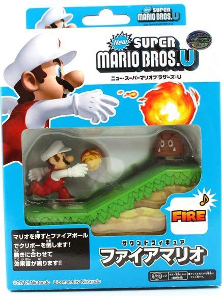 New Super Mario Bros. U Sound Figure ~ Fire Mario $8.50 http://thingsfromjapan.net/new-super-mario-bros-u-sound-figure-fire-mario/ #super mario #anime toy #mario toy