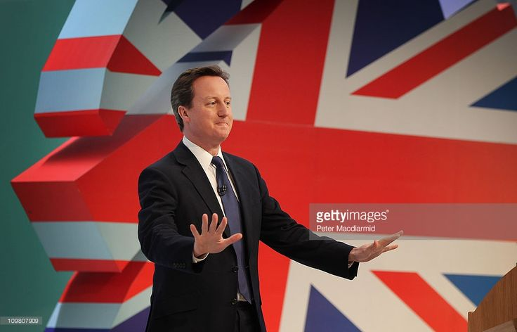 Prime Minister David Cameron speaks at the Conservative Spring Forum on March 6, 2011 in Cardiff, Wales. Mr Cameron set out his strategy for kick starting growth in the eceonomy.