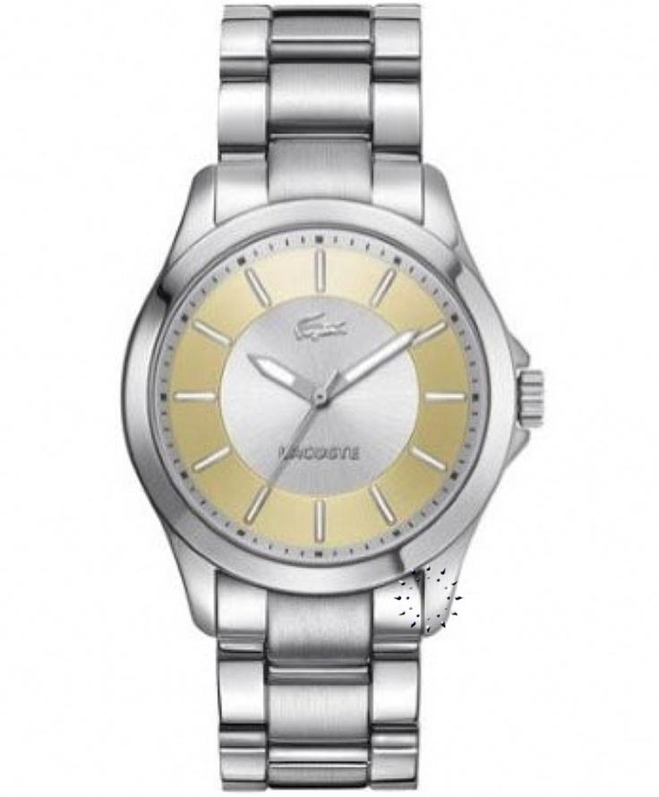 LACOSTE Gold Dial Stainless Steel Bracelet Μοντέλο: 2000705 Η τιμή μας: 135€ http://www.oroloi.gr/product_info.php?products_id=32194