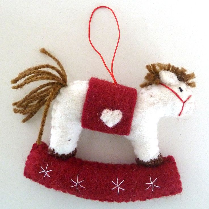 Pashom Rocking Horse Christmas Decoration available form Ecobella