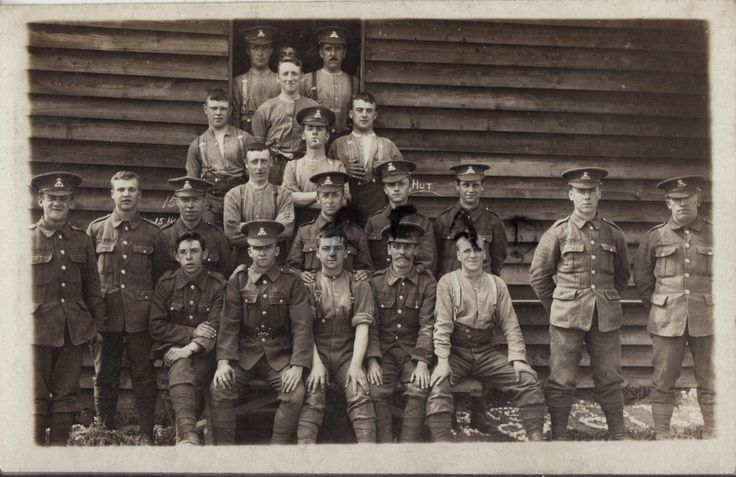 WW1 soldier group Lancashire Fusiliers in front of wooden barrack hut | eBay