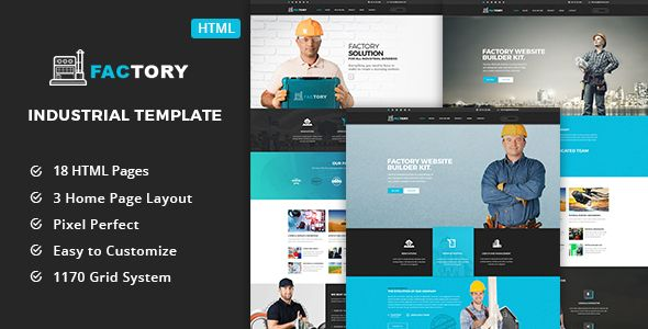 cool Factory - Industrial Company HTML5 Template (Company)