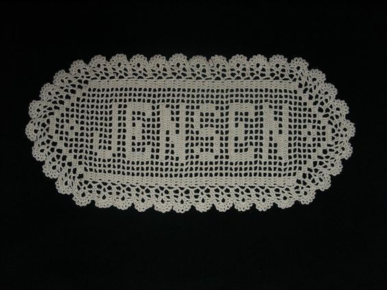 17 Best Images About Crocheted Fillet W/letters On