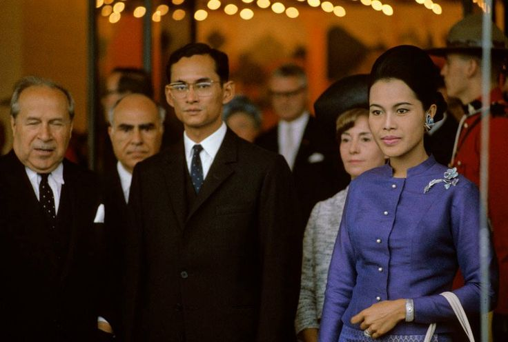 His Majesty King Bhumibol Adulyadej and Her Majesty Queen Sirikit Kitiyakara visit Montreal, Canada Copyright: Government of Canada