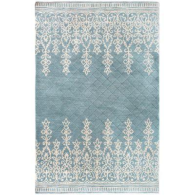 Kushi Border Rugs Blue Pier 1 Matches The Wallpaper I