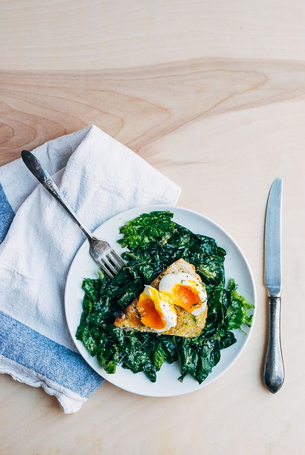 Ramp and Spinach Caesar Salad with Poached Eggs (recipe) / by Brooklyn Supper