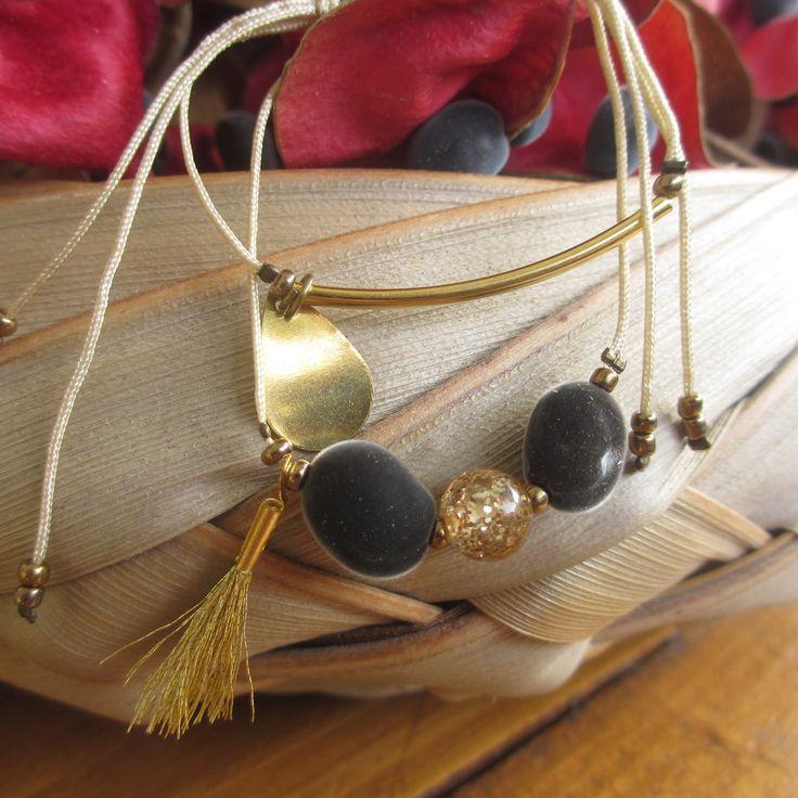 Bracelet combo Perle du Zanzibar et Polaris : Bracelet par inspiration-antilles