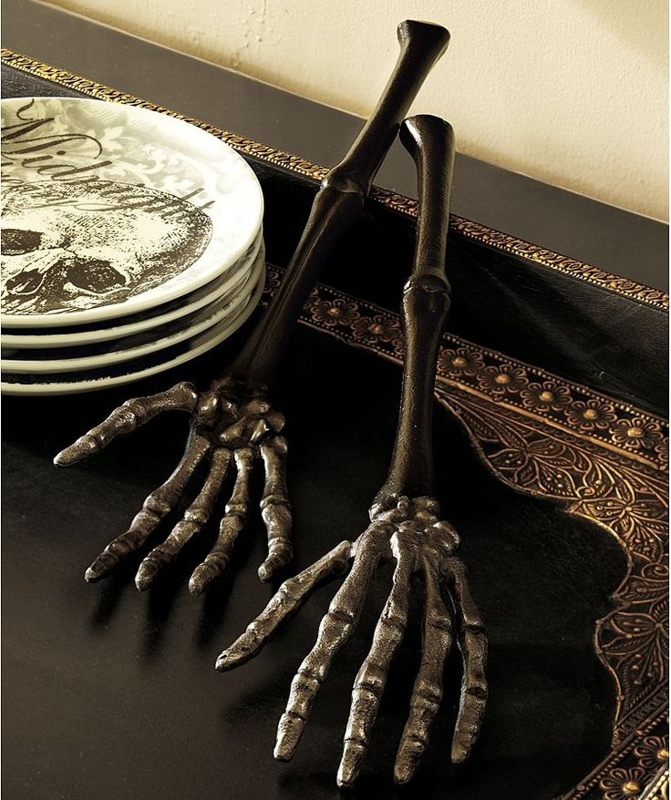 Gothic tableware cutlery cutlery and silverware for the goth table upon a midnight dreary - Medieval silverware ...