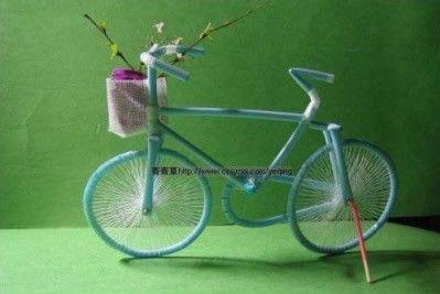 DIY Straw Bicycle