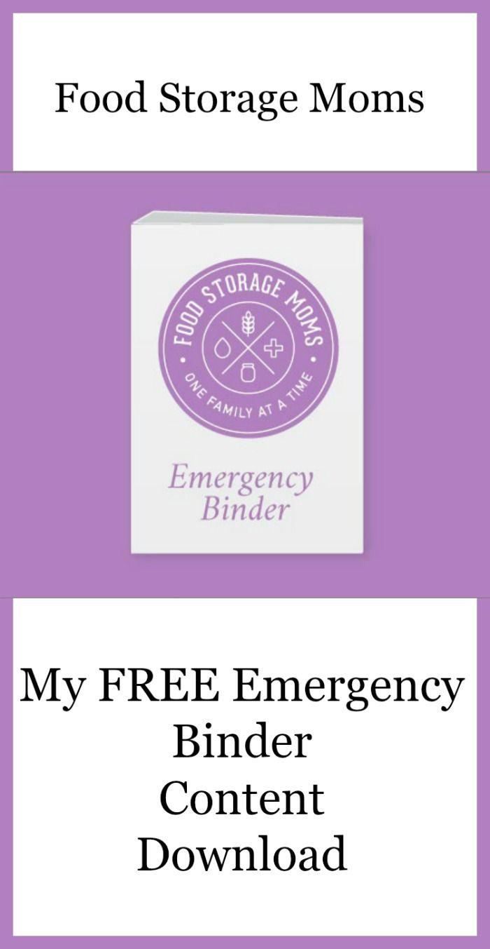 My FREE Emergency Binder Content Download