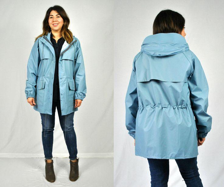 80s Blue Rain Coat / PVC Rain Raincoat / Blue Rain Jacket / 80s Blue Raincoat / Retro Rain Slicker / Light Blue Jacket / Unisex Jacket by shopspotlightvintage on Etsy https://www.etsy.com/listing/562625323/80s-blue-rain-coat-pvc-rain-raincoat
