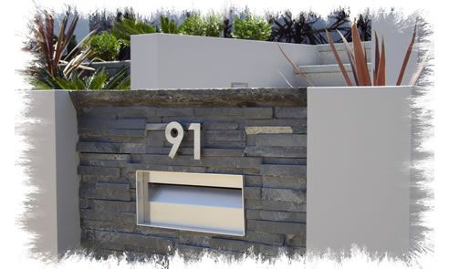 Letterbox and number above