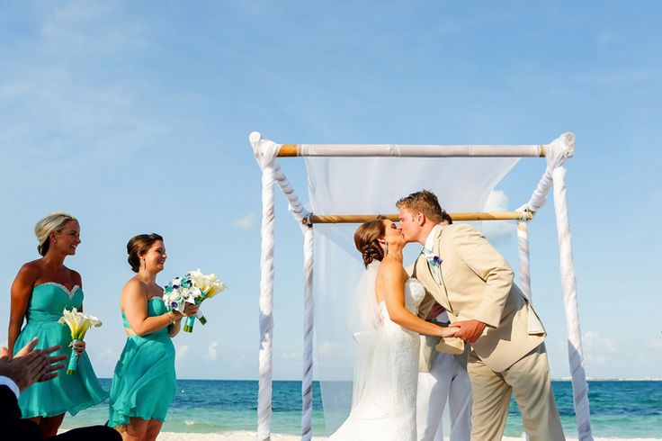 A breathtaking beach wedding at Excellence Playa Mujeres Wedding | Mexico wedding venues beach (This One Photography)