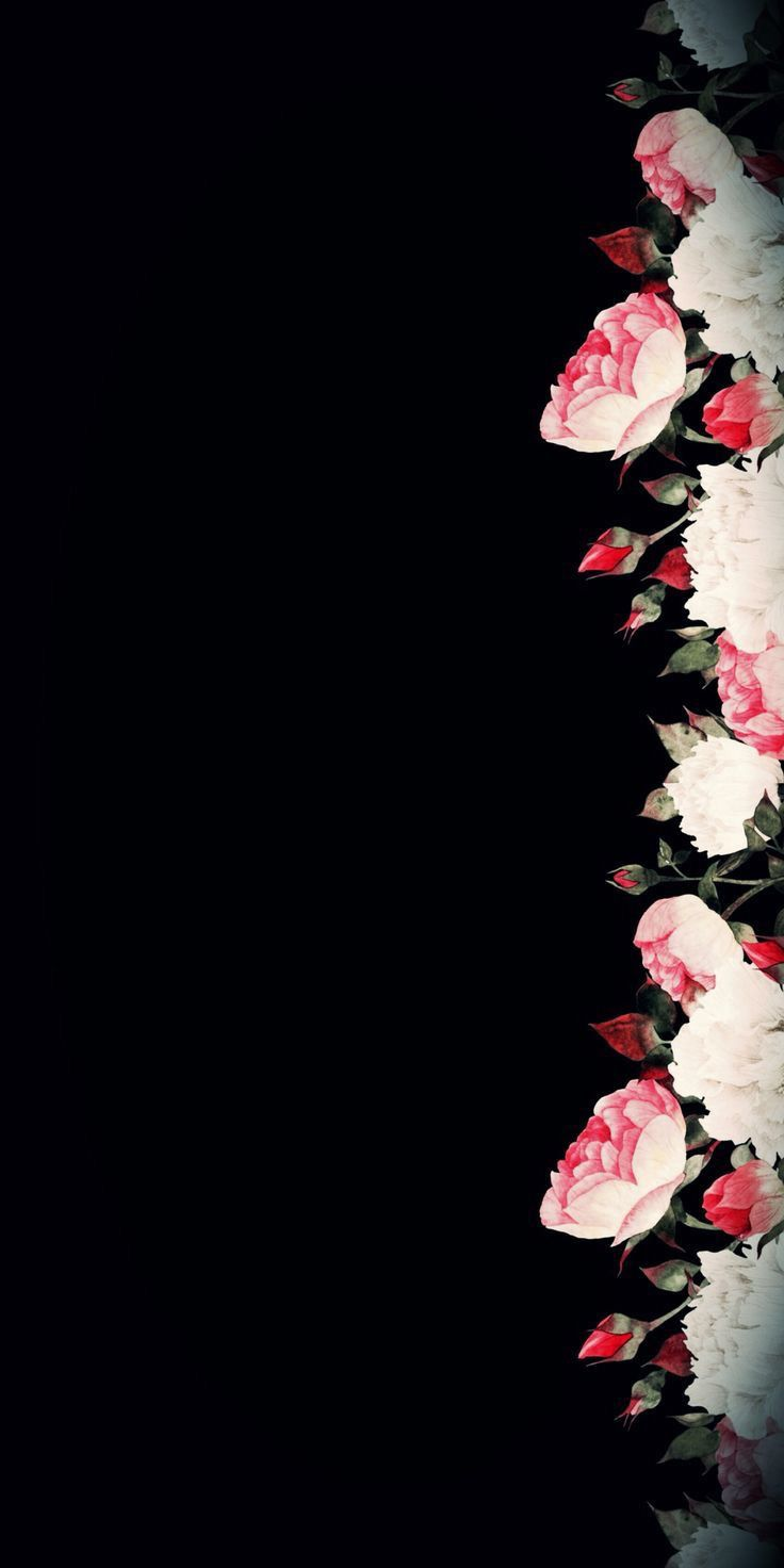 Black Theme Wallpapers Iphone Android Flower Background Wallpaper Flower Wallpaper Beautiful Flowers Wallpapers