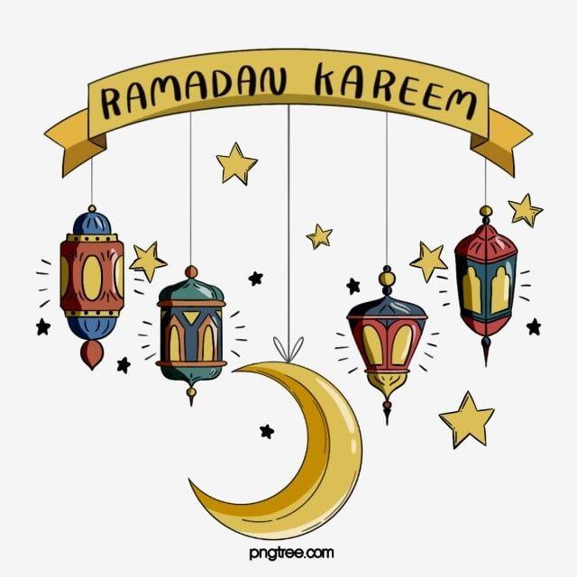 كرتون رمضان مهرجان العناصر الملونة القمر والنجوم المرسومة رمضان مهرجان Png وملف Psd للتحميل مجانا Art Poster Design Ramadan Images Ramadan Lantern
