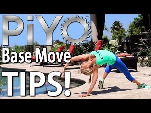 #FitnessFriday with Chalene Johnson PiYo Base Moves Tutorial with Chalene Johnson In this video I demonstrate some of my favorite PiYo moves. Piyo Flip, Piyo kick through, the plank tuck and stretch, Piyo connector, PiYo Cross and more.  Get started with PiYo today! No weights, No jumps, just Hardcore RESULTS! http://www.chalenejohnson.com/piyo