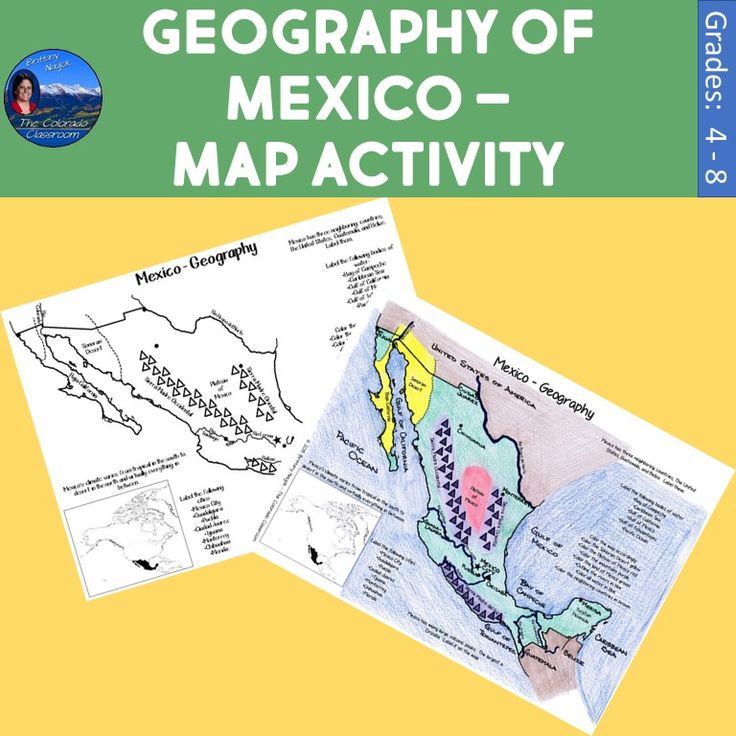 Geography of Mexico – Map Activity is a 5-page resource that allows you to map the physical and political attributes of Mexico. Students are provided with a map of Mexico to map the physical and political characteristics of the country.