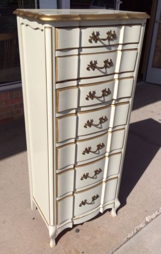 mid century french provincial lingerie dresser chest of drawers hiboy hardwood