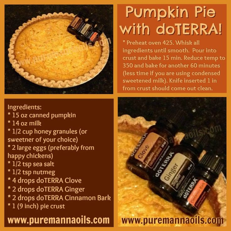 62 best doterra food images on pinterest doterra recipes pumpkin pie with doterra oils forumfinder Images
