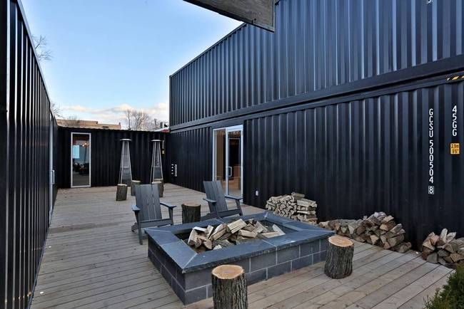 Giant Containers courtyard-shipping container design