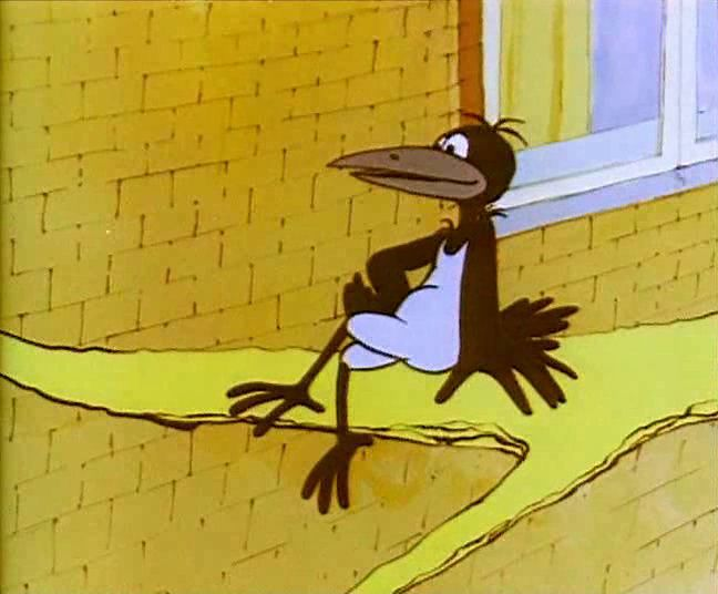 Хитрая ворона. 1980