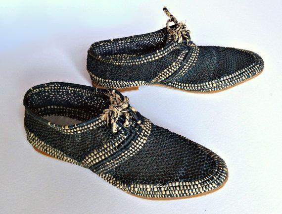 Chaussures cravate en raphia. Chaussures en par OscarAndShades