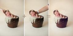 Safely pose a newborn