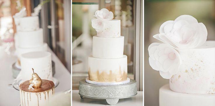 Metallic Wedding Cakes!