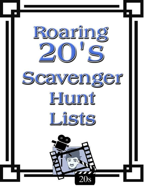 Roaring 20s Themed Scavenger Hunt List by QuestAdventures on Etsy, $9.95