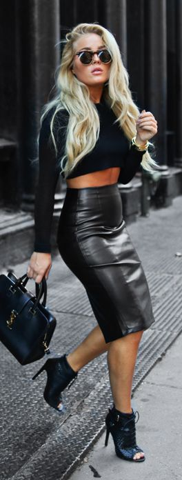 Black On Black Fall Inspo by Angelica Blick