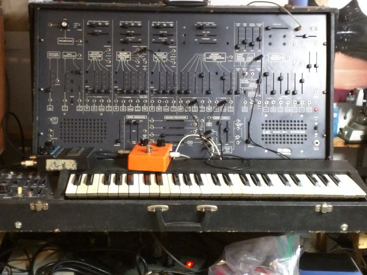 The ARP 2600. My ACTUAL 2600 that I gigged with extensively in the 1980s. Purchase from the owner (the legendary Bob Monschein) from whom it had been borrowed for years.