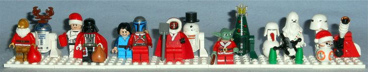Various special Christmas figures from the annual Lego Star Wars Advent Calendar sets