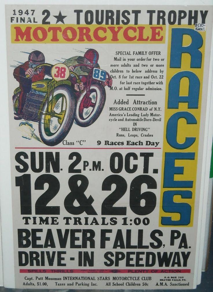 36 best Vintage Race Flyers images on Pinterest