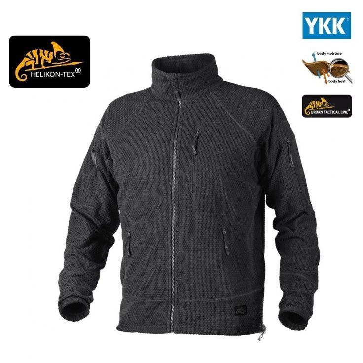 Helikon Black ALPHA Tactical Grid Fleece Jacket