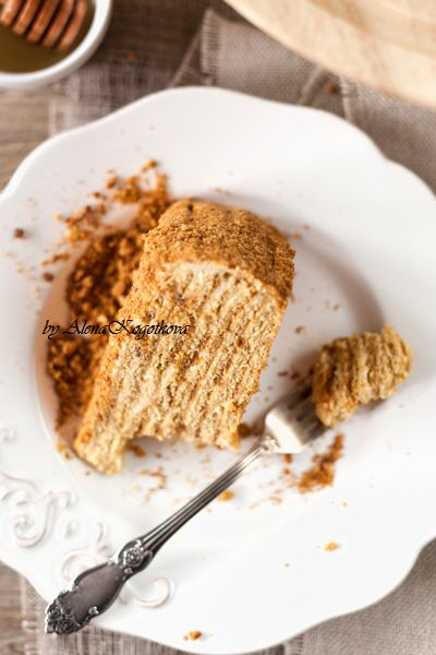 Honey cake - like the bought one :oD But only cream is quite liquid....