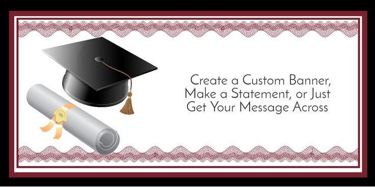 Maroon Graduation Diploma Custom Banner: Maroon Congratulations Graduate Banner