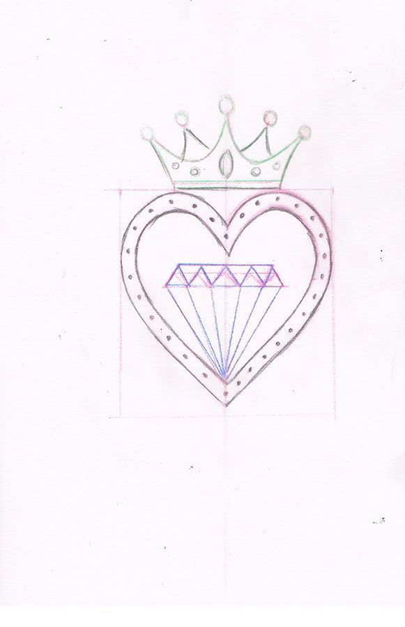 heart tattoo #tattoo idea #old school tattoo #diamond ...