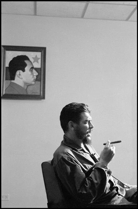 """Ernesto """"Che"""" Guevara (1928-1967) - Argentine Marxist revolutionary, physician, author, guerrilla leader, diplomat, and military theorist. Also a major figure of the Cuban Revolution. Photo by Elliott Erwitt"""