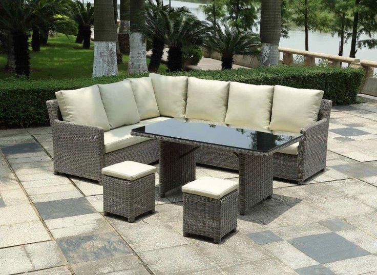 M s de 25 ideas nicas sobre cojines de muebles de patio for Sofa exterior esquina