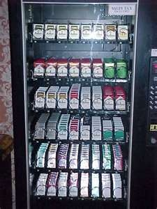 cigarette machine... They were everywhere.