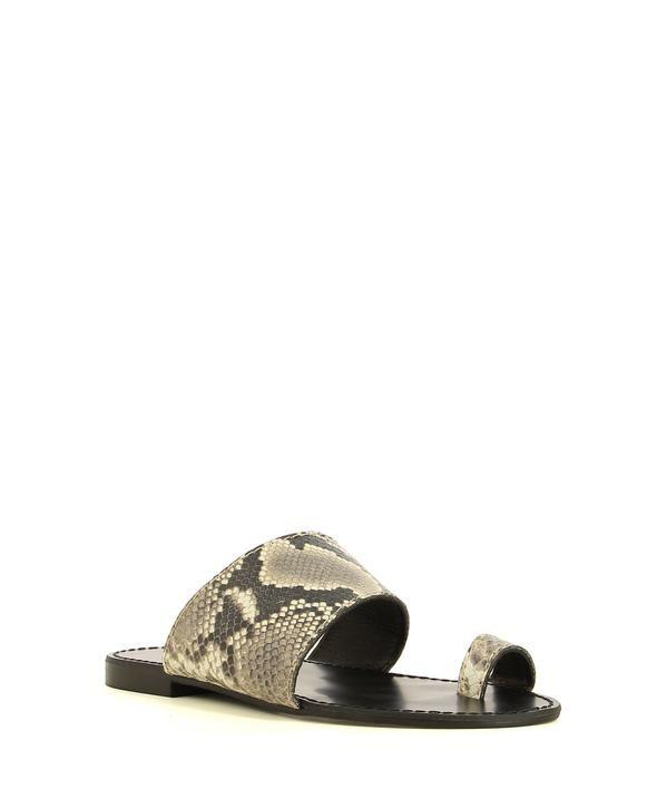 2 Baia Vista 9646 Python Zomp Shoez In 2020 Italian Leather Sandals Leather Sandals Snake Skin