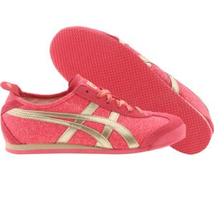 Asics Onitsuka Tiger Women Mexico 66 (red / glitter / champagne) D3S9N-2394 - $75.00