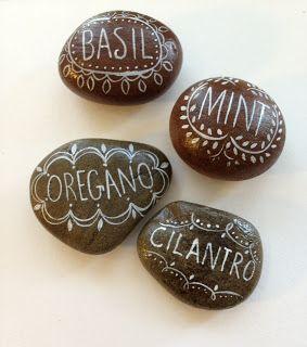 plant marker stones