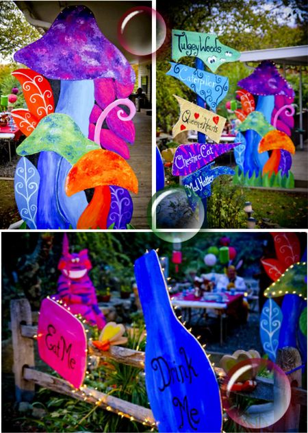 25 best ideas about alice in wonderland props on - Alice in wonderland outdoor decorations ...